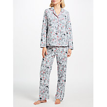 Buy John Lewis Joyce Floral Print Pyjama Set, Grey/Pink Online at johnlewis.com