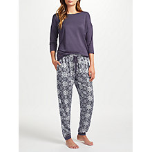 Buy John Lewis Tilda Print Jersey Pyjama Set, Charcoal Online at johnlewis.com