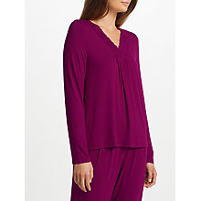 Buy John Lewis Alicia Jersey Long Sleeve Pyjama Top, Burgundy Online at johnlewis.com