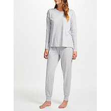 Buy John Lewis Etienne Jersey Tiny Star Print Pyjama Set, Grey Online at johnlewis.com