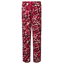 Buy Calvin Klein Floral Print Pyjama Bottoms, Burgundy/Multi Online at johnlewis.com