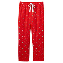 Buy Joules Snooze Robin Print Pyjama Bottoms, Red Online at johnlewis.com