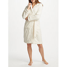 Buy John Lewis Leaf Embossed Fleece Dressing Gown, Ivory Online at johnlewis.com