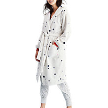 Buy Joules Rita Dressing Gown, Ivory/Grey Online at johnlewis.com