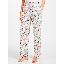 Buy John Lewis Chrissie Floral Pyjama Bottoms, Ivory/Pink Online at johnlewis.com