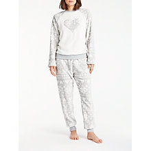 Buy John Lewis Fair Isle Fleece Twosie, Grey/Ivory Online at johnlewis.com