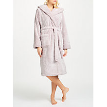 Buy John Lewis Hi Pile Fleece Robe, Nude Pink Online at johnlewis.com