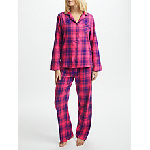 Buy John Lewis Check Pyjama Gift Set, Purple Online at johnlewis.com