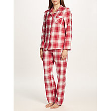 Buy John Lewis Check Pyjama Gift Set, Red/Ivory Online at johnlewis.com