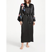 Buy Somerset by Alice Temperley Peony Rose Silk Dressing Gown, Black/Multi Online at johnlewis.com