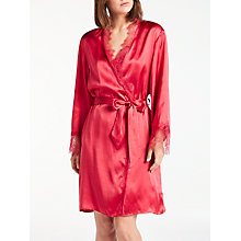 Buy Somerset by Alice Temperley Silk Trim Dressing Gown, Red Online at johnlewis.com