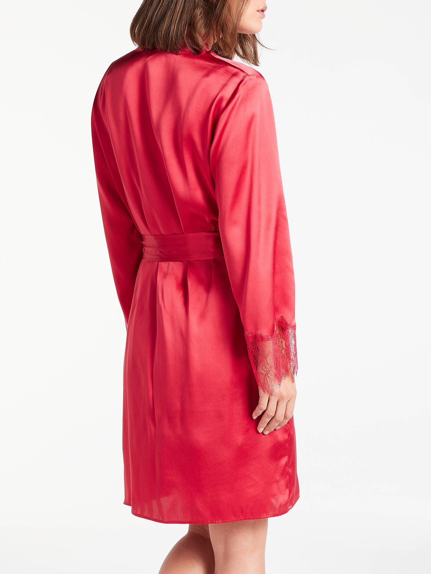 Somerset By Alice Temperley Silk Trim Dressing Gown Red At John