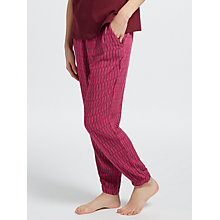 Buy Calvin Klein Logo Print Pyjama Bottoms, Burgundy Online at johnlewis.com