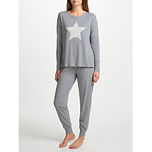 Buy John Lewis Furry Star Pyjama Set, Grey/White Online at johnlewis.com