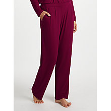 Buy John Lewis Alicia Jersey Pyjama Bottoms, Burgundy Online at johnlewis.com
