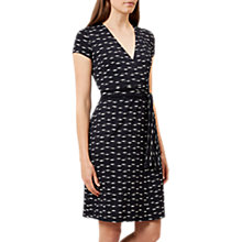 Buy Hobbs Sally Abstract Print Dress, Navy Ivory Online at johnlewis.com