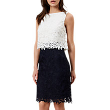 Buy Hobbs Florence Dress, Ivory/Navy Online at johnlewis.com