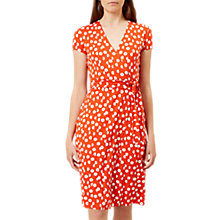 Buy Hobbs Sally Spot Dress, Flame Orange Online at johnlewis.com