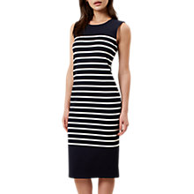 Buy Hobbs Hollie Breton Dress, Navy/White Online at johnlewis.com