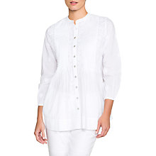 Buy East Chikan Pintuck Detail Blouse, White Online at johnlewis.com