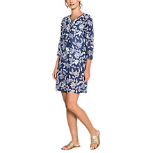 Buy East Mahika Print Kurta Top, Navy Online at johnlewis.com