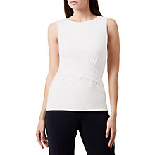 Buy Hobbs Sian Gathered Top, Ivory Online at johnlewis.com