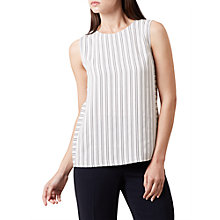 Buy Hobbs Belle Shell Top, Ivory/Navy Online at johnlewis.com