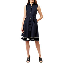 Buy Hobbs Clarence Dress, Navy Online at johnlewis.com