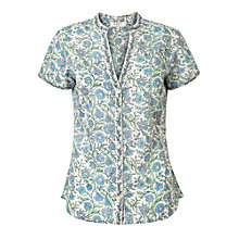 Buy East Handblock Kavita Print Blouse, Viola Online at johnlewis.com