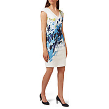 Buy Hobbs Jennifer Dress, Ivory/Multi Online at johnlewis.com
