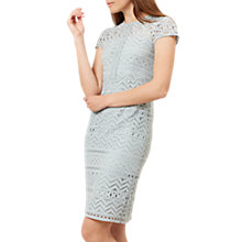 Buy Hobbs Jenna Lace Dress, Willow Green Online at johnlewis.com