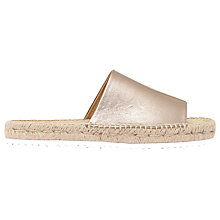 Buy Mint Velvet Beth Espadrille Slider Sandals, Metallic Online at johnlewis.com