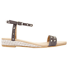Buy Mint Velvet Nadia Studded Sandals, Dark Grey Online at johnlewis.com