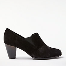 Buy John Lewis Agatha Block Heeled Shoe Boots, Black Online at johnlewis.com