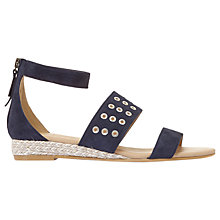 Buy Mint Velvet Nelly Eyelet Strap Sandals, Navy Online at johnlewis.com