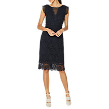 Buy Mint Velvet Lace Dress, Ink Online at johnlewis.com