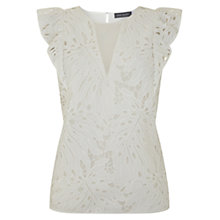 Buy Mint Velvet Lace Leaf Tee, Ivory Online at johnlewis.com