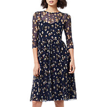 Buy Warehouse Mae Floral Print Mesh Dress, Multi Online at johnlewis.com