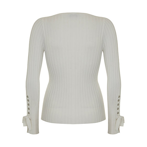 Buy Mint Velvet Tie Detail Cropped Cardigan, Ivory Online at johnlewis.com