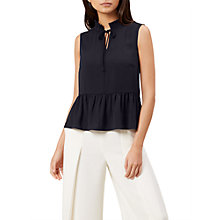 Buy Hobbs Penny Top, Navy Online at johnlewis.com