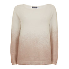 Buy Mint Velvet Metallic Ombre Jumper, Rose Gold Online at johnlewis.com