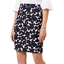 Buy Hobbs Freya Pencil Skirt, Natural/Multi Online at johnlewis.com