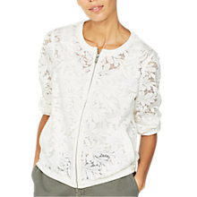 Buy Mint Velvet Lace Mesh Jacket, White Online at johnlewis.com