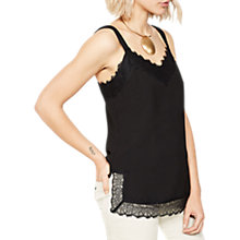 Buy Mint Velvet Lace Trim Camisole, Black Online at johnlewis.com