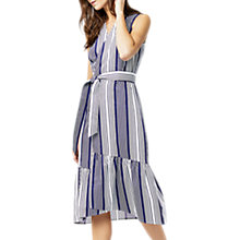 Buy Warehouse Wrap Dress, Blue Stripe Online at johnlewis.com