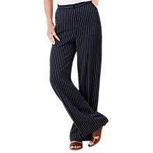 Buy Hobbs Paige Trousers, Navy/Ivory Online at johnlewis.com