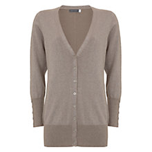 Buy Mint Velvet Metallic Boyfriend Cardigan, Latte Online at johnlewis.com