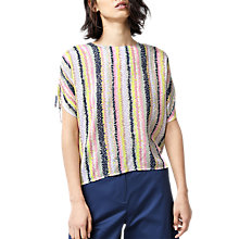 Buy Warehouse Dash Top, Pink Stripe Online at johnlewis.com
