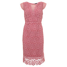 Buy Mint Velvet Peony Lace Dress, Pink Online at johnlewis.com