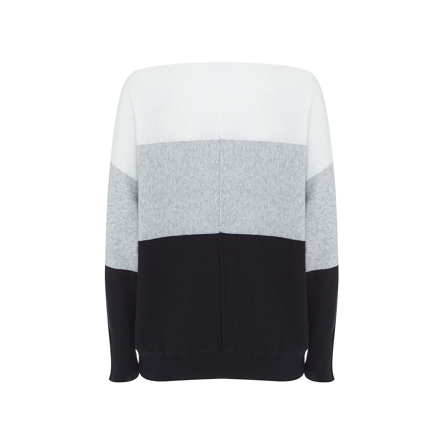 BuyMint Velvet Stripe Batwing Jumper, Multi, XL Online at johnlewis.com